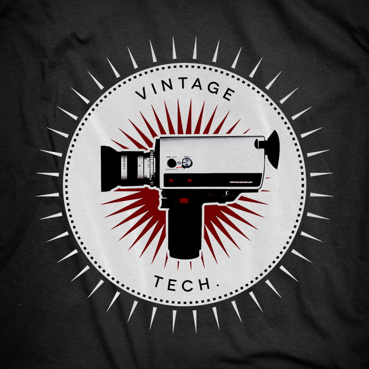 vintage icons 05 super8 camera Super 8 camera t shirt. Vintage icons collection