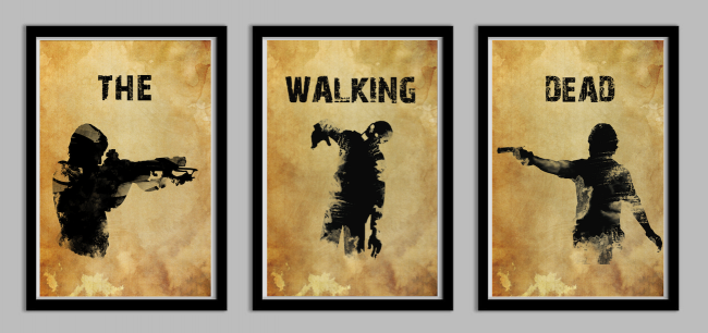 walkingdeadtrio 650x306 The Walking Dead Poster Set by Lynx Collection
