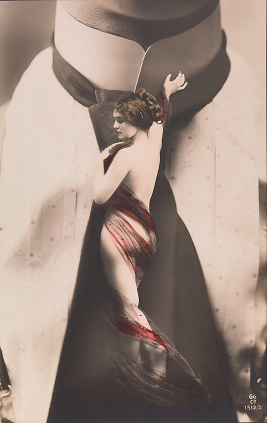 02 Nude Woman on Mans Necktie 1911 Faking It: Manipulated Photography Before Photoshop