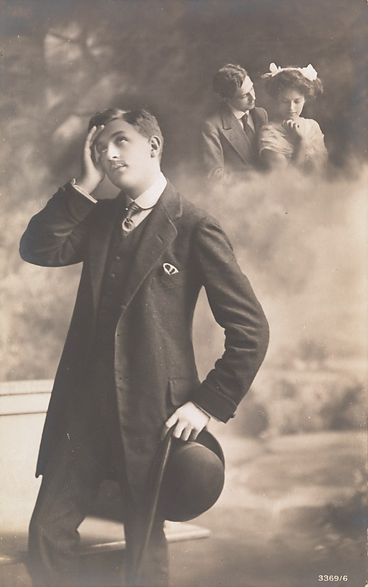 06 Man Daydreaming about Love 1910s Faking It: Manipulated Photography Before Photoshop