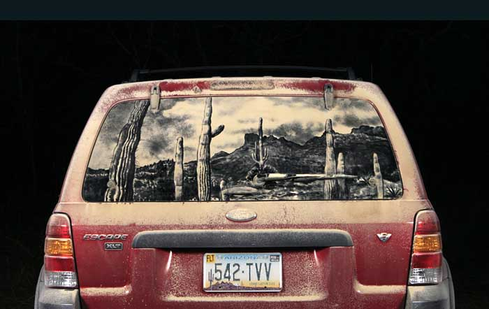 076 escape d13 20 Dirty Car Artworks by Scott Wade