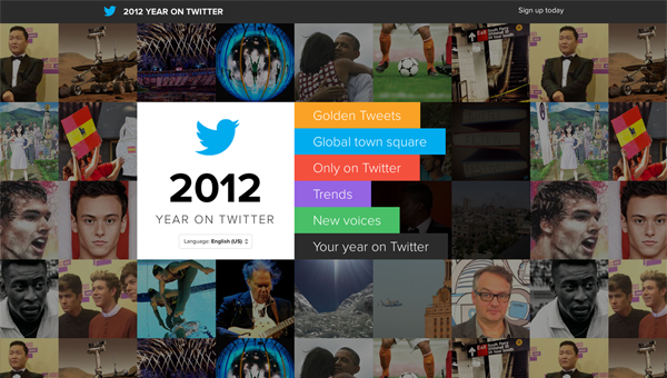 2012 year on twitter113 35 Nice Examples of Flat Web Design