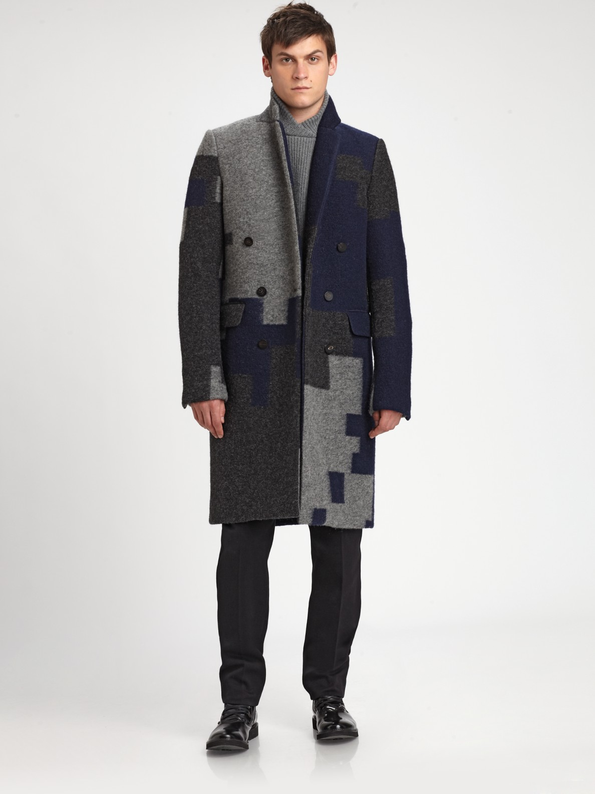 31 phillip lim navy doublebreasted gentlemans coat product 1 4013988 367933772 3.1 Phillip Lim – Like playing Tetris on a coat.
