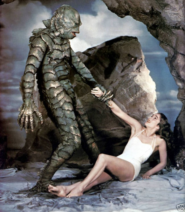 "Behind the scenes of ""Creature From the Black Lagoon"" 1954 1 650x745 Behind the scenes of ""Creature From the Black Lagoon"", 1954"