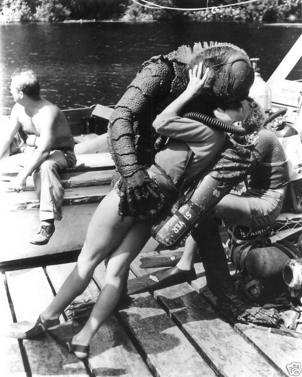 "Behind the scenes of ""Creature From the Black Lagoon"" 1954 2 Behind the scenes of ""Creature From the Black Lagoon"", 1954"