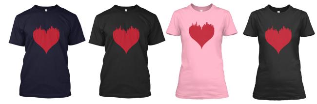 Boston Love Shirt By Ctrl Alt Design 650x215 #BostonLove T Shirt to benefit One Fund Boston