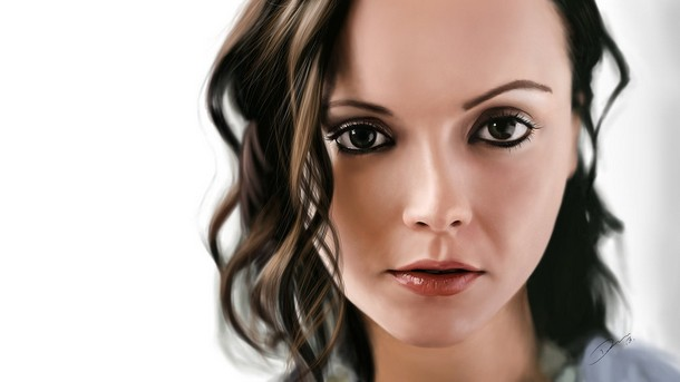 Christina Ricci Painting Photo realistic Digital Paintings of Celebrities