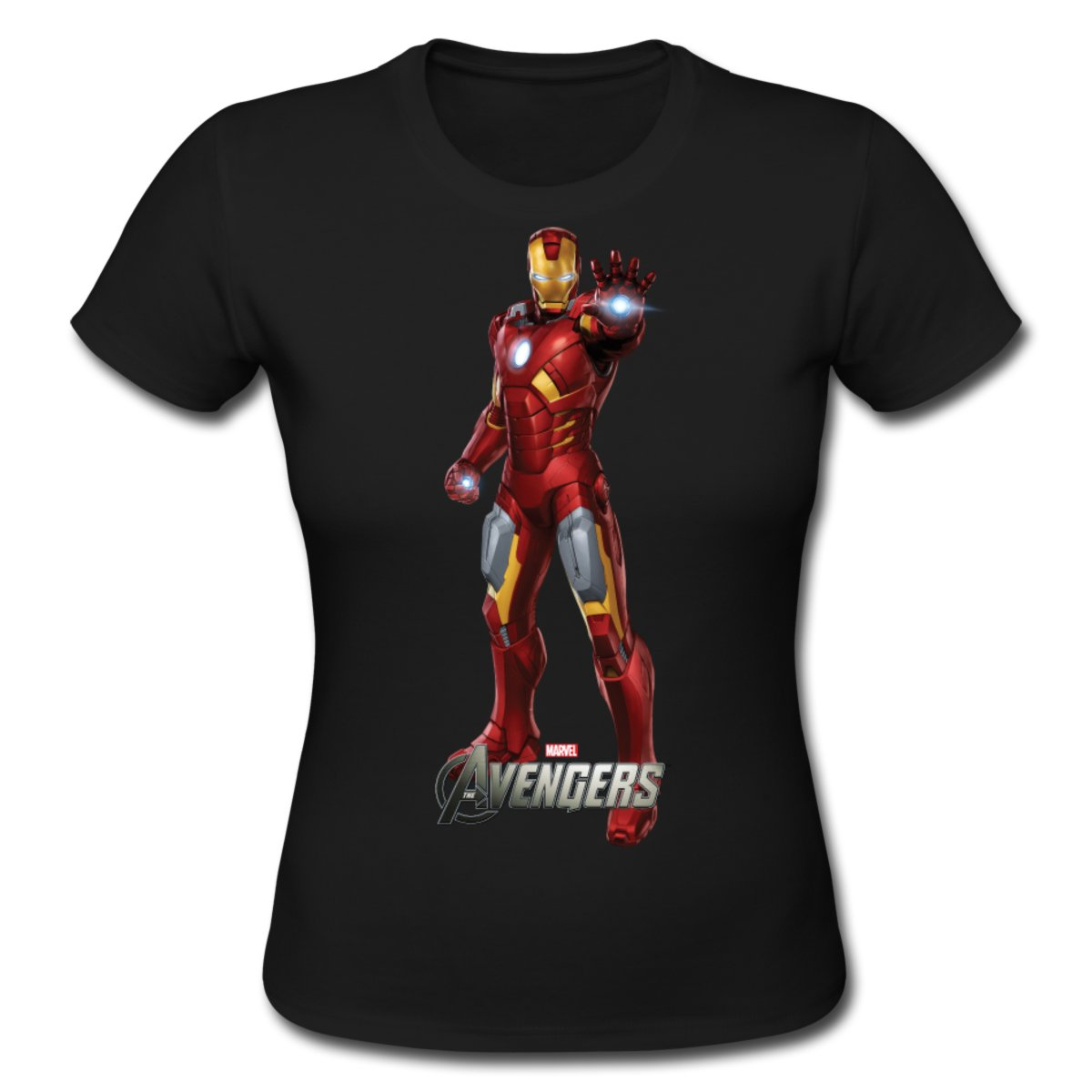 Daily Tee Iron Man t shirt design from spreadshirt black for girl Iron Man t shirt design from spreadshirt