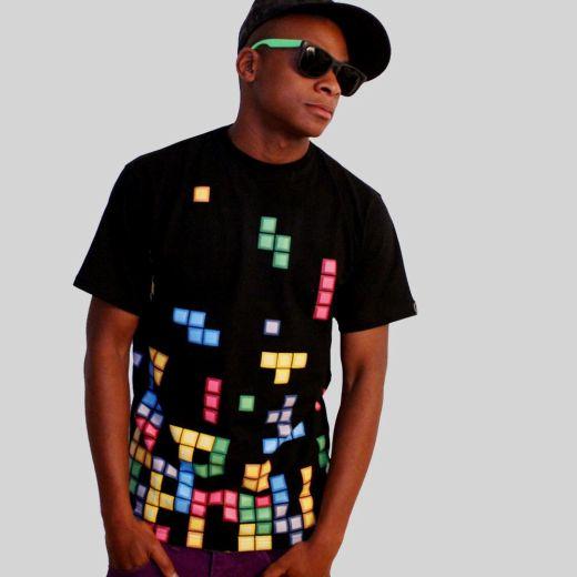 Daily Tee Tetris t shirt design from technabob.com boy Tetris t shirt design from technabob.com