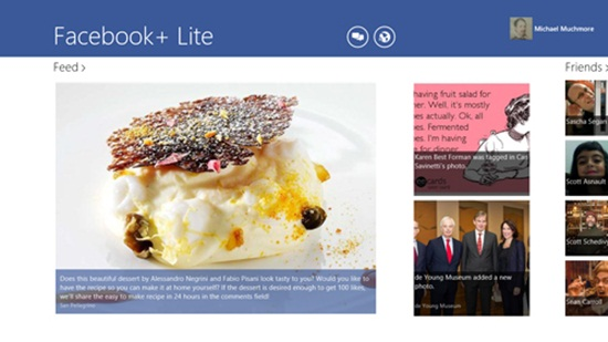 Facebook+ Lite 30 Window 8 Metro Apps