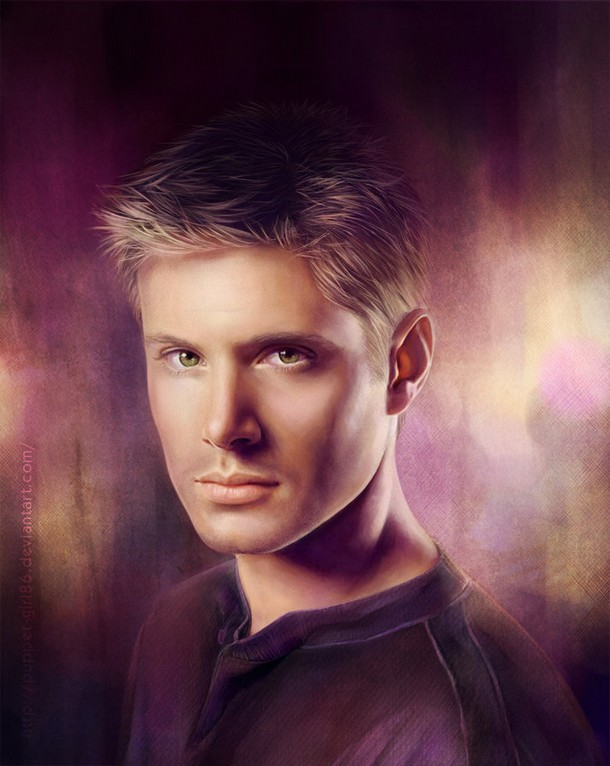 Jensen Ackles Photo realistic Digital Paintings of Celebrities