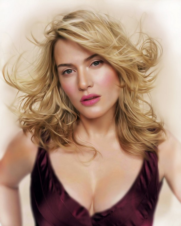 Kate Winslet Photo realistic Digital Paintings of Celebrities