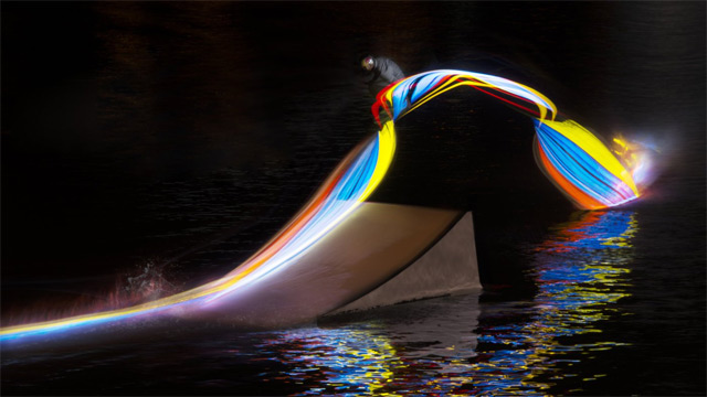 Light Painting with a Wakeboard Light Painting with a Wakeboard