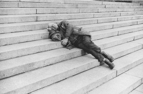 New York City 1970s Photos of People Sleeping in Public in New York City, 1970′s