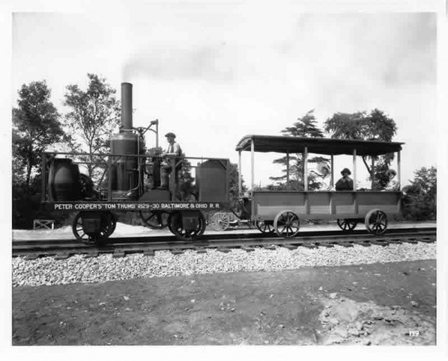 Tom Thumb 3 650x525 Old Photos of Tom Thumb   The First American Built Steam Locomotive