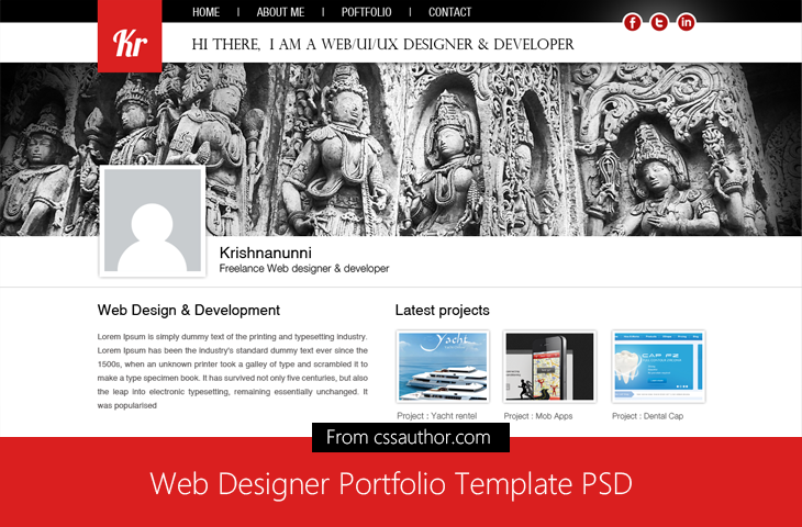 20 Beautiful Web Design Template PSD for Free Download - (Web ...