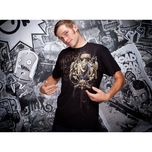 World of Warcraft Alliance t shirt design boy front World of Warcraft Alliance t shirt design from goodsforgamers
