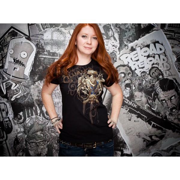 World of Warcraft Alliance t shirt design girl design front World of Warcraft Alliance t shirt design from goodsforgamers