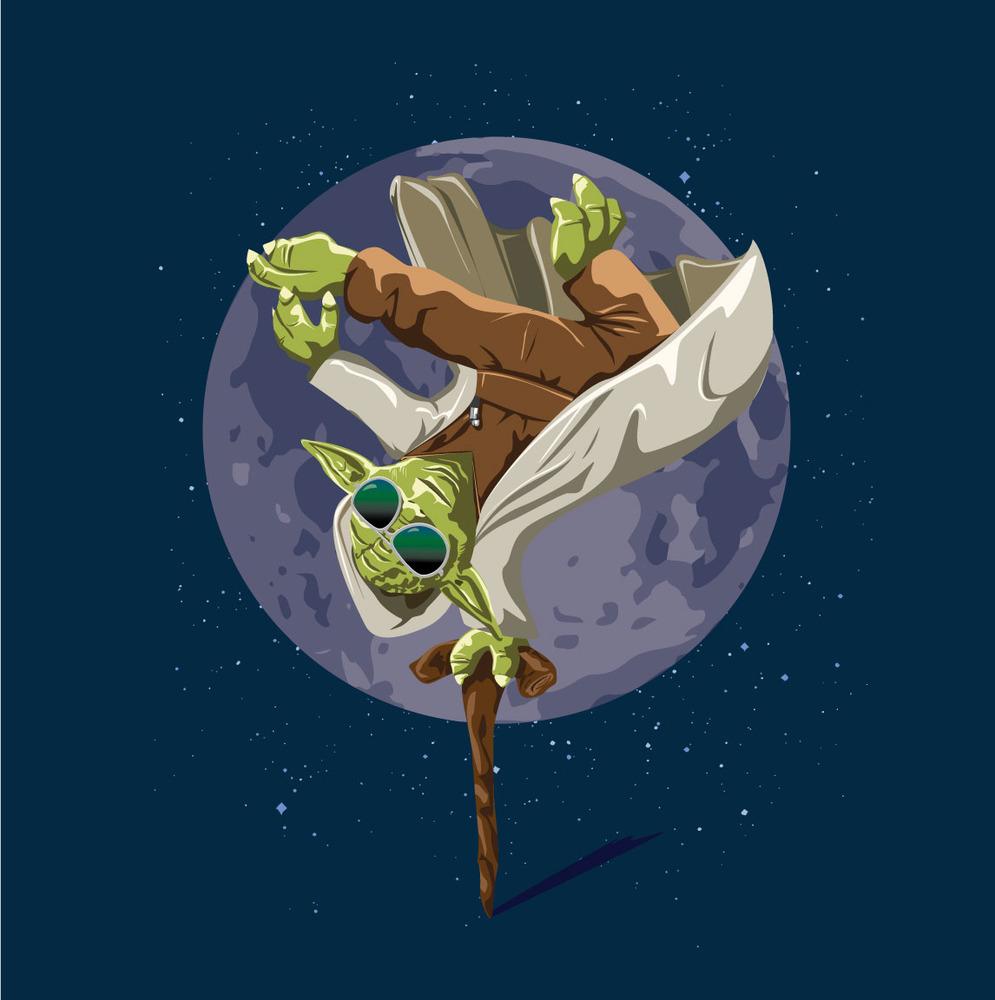 Yoda Force Break Dance t shirt design by wearviral.bigcartel t shirt design Yoda Force Break Dance t shirt design by wearviral.bigcartel