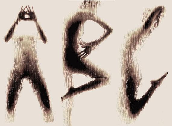 a b c naked body alphabet 1 Sexy Letters: Naked Body Alphabet