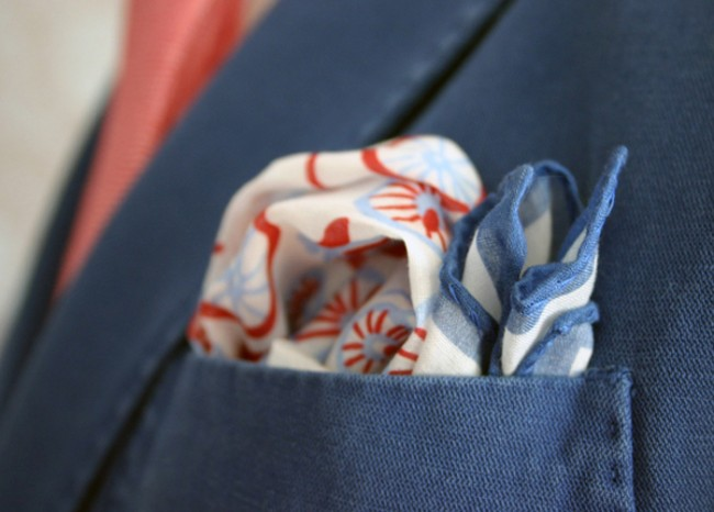 bicycle print pocket square 1 650x466 Bicycle Print Pocket Square