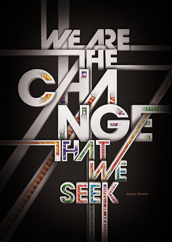 d17cea5a88272279cf7c589157af8548 Change Typography Poster Design