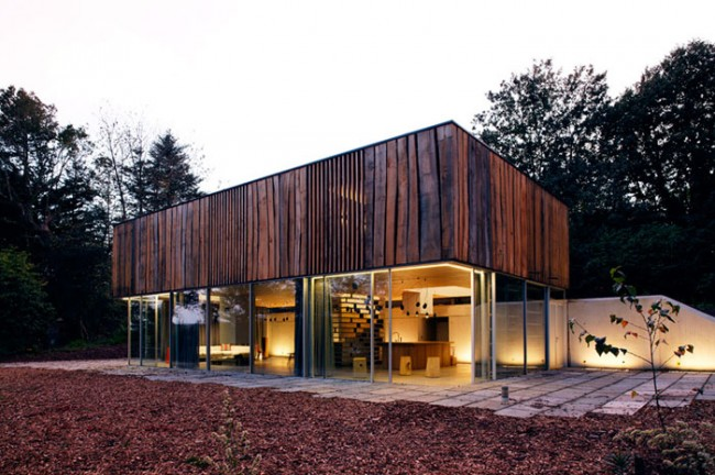 dhouse02 650x432 The Use of Wood in Interiors