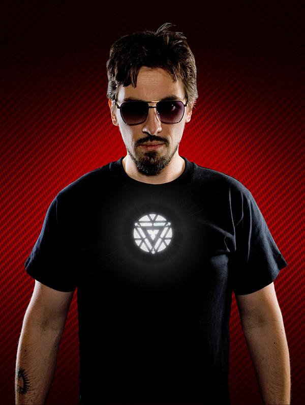 f2ec tony stark light up iron man 3 shirt stark Tony Stark Light Up LED Iron Man 3 Shirt