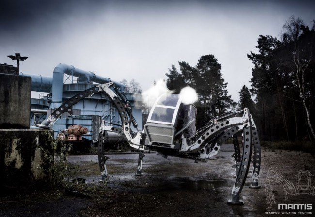 hexa 650x448 You Can Actually Ride This Hexapod Robot!