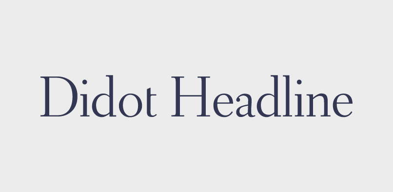 hft012 didot headline pr1 Didot Headline Font