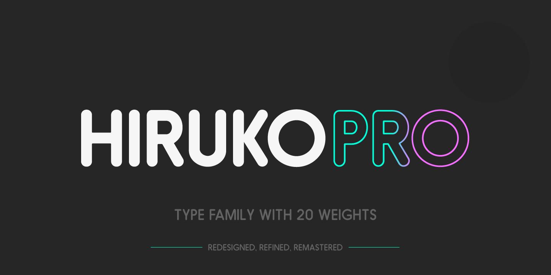 hiruko pro 00 Free Hiruko Pro Font