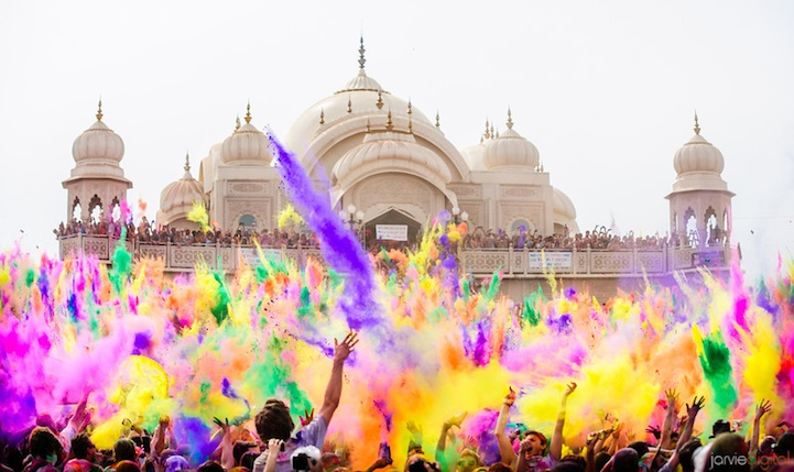 holi Colorful Powder Fills the Air at Utahs Festival of Color