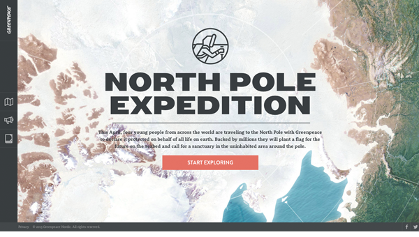 into the artic111 35 Nice Examples of Flat Web Design