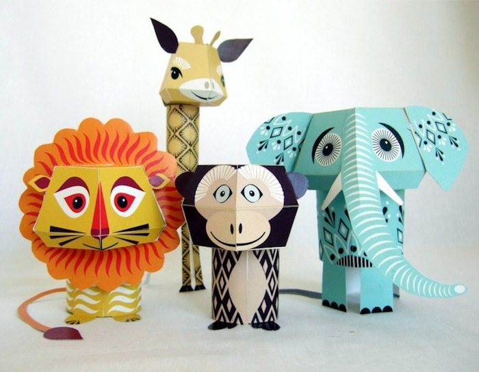 paper animals fb Mibos Adorable Printable Paper Animals