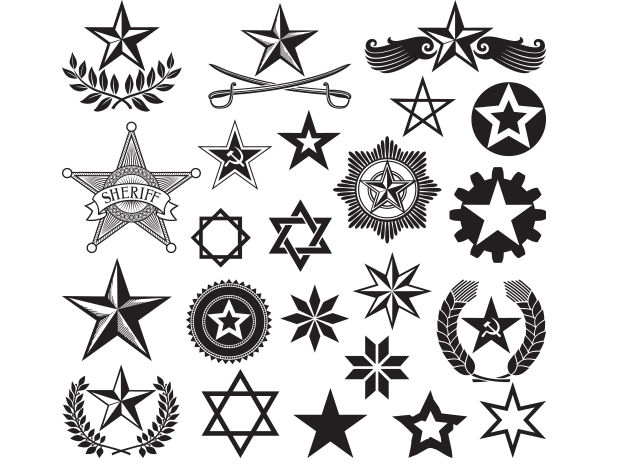 set of vector stars Wrist Tattoos and Graphics