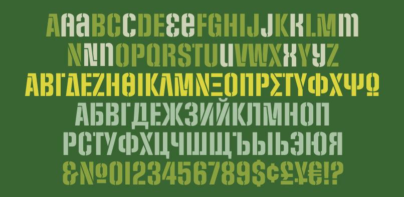socialsten pr2 Social Stencil Font