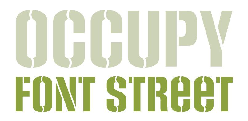 socialsten pr4 Social Stencil Font