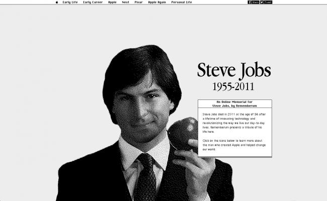steve jobs online memorial 650x400 Steve Jobs Online Memorial