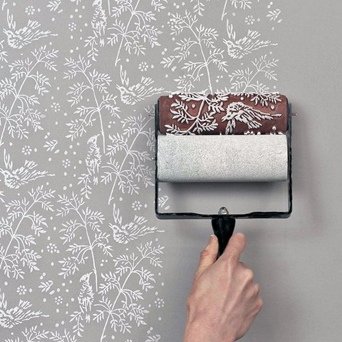 tumblr mkr1ycYJgS1qiqf01o1 500 Patterned Paint Roller Kit
