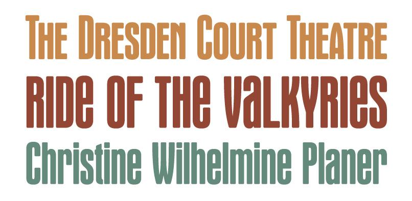 wagnerround pr3  Wagner Round Font