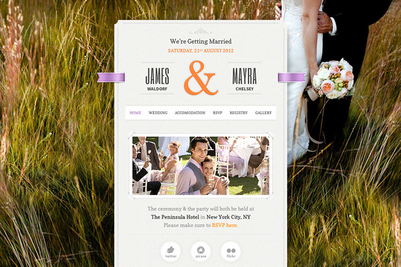 1 f11 Top 15 Premium WordPress Themes for a Wedding