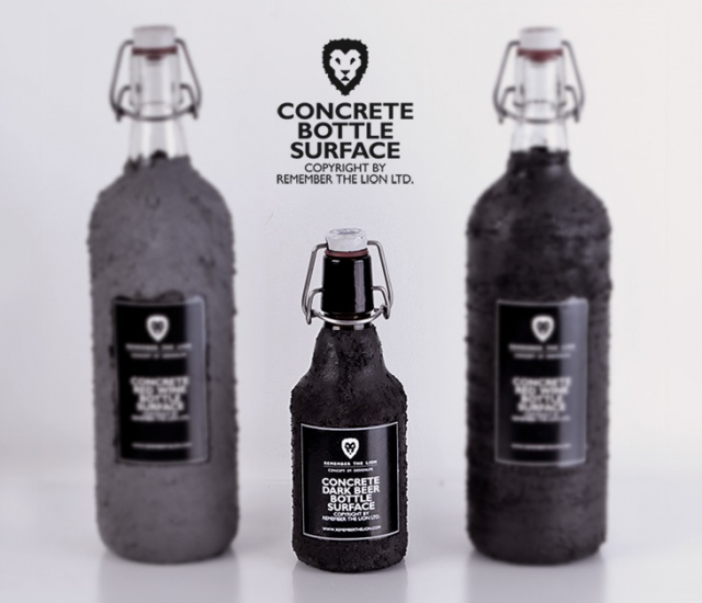 1o23 Concrete bottle surface by Remember The Lion