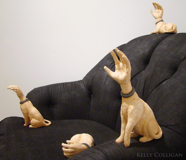 1o73 The Human Animal sculpture by Kelly Colligan