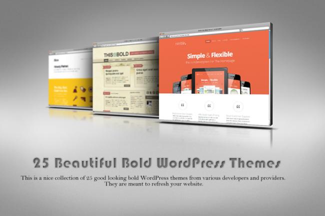 25 Beautiful Bold WordPress Themes 650x433 25 Beautiful Bold WordPress Themes