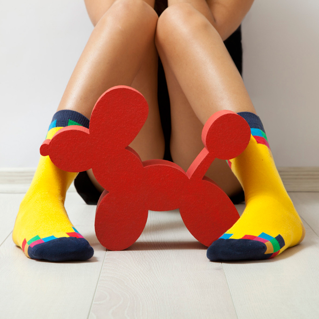 3dev Colorful Socks with Geometric Designs
