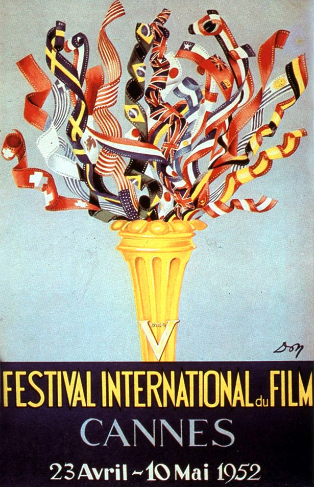 5th+International+Film+Festival+in+Cannes+in+1952 Interesting Vintage Cannes Film Festival Posters