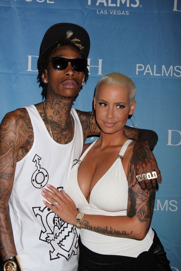 Amber and Wiz Amber Rose Shows Off Her Post Baby Body in Swimsuit in Vegas