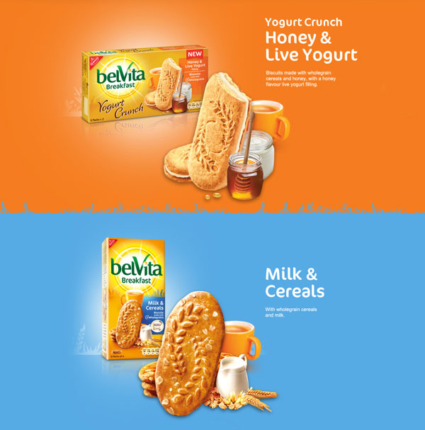 Belvita Breakfast Biscuits pack design New Collection of Biscuits & Cookies Packaging For Inspiration