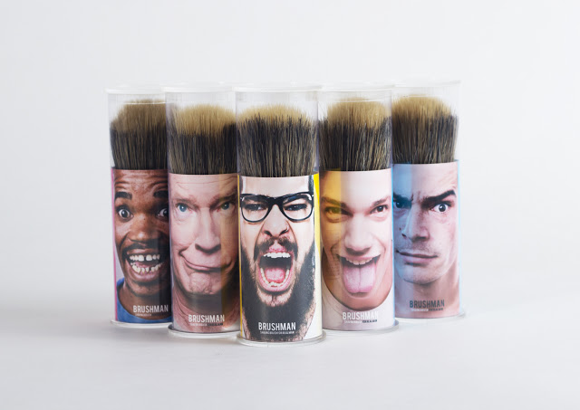 Brushman003  Brushman : Shaving brush packaging design