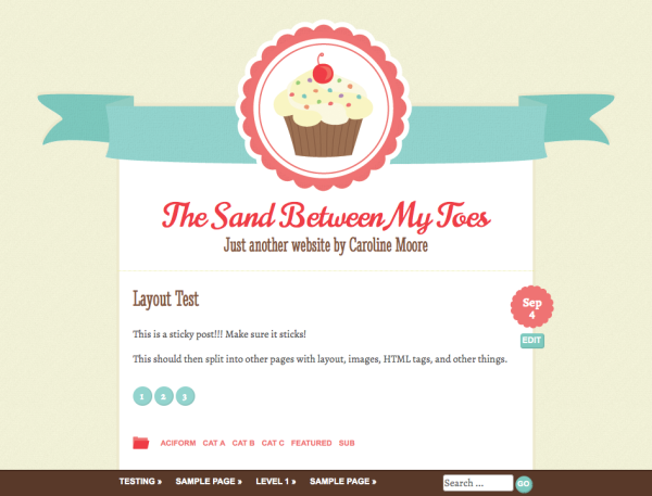 Buttercream FREE: Buttercream WordPress Theme